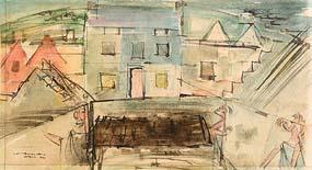 Louis Le Brocquy, Achill (1946) at Morgan O'Driscoll Art Auctions