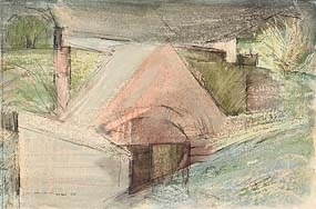 Louis Le Brocquy, Tuam, Co Galway (1945) at Morgan O'Driscoll Art Auctions