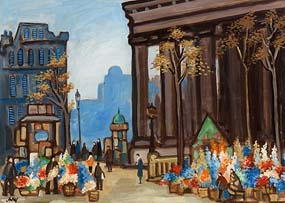 Markey Robinson, The Madeleine Flower Market at Morgan O'Driscoll Art Auctions