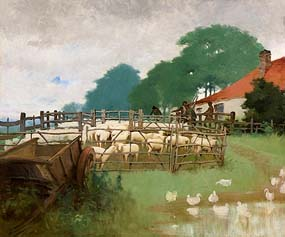 Harry Jones Thaddeus, A Sheep Pen at Morgan O'Driscoll Art Auctions