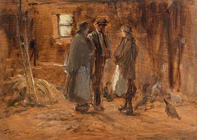 James Humbert Craig, The Evening Chat at Morgan O'Driscoll Art Auctions
