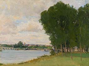 Hans Iten, River Seine, France at Morgan O'Driscoll Art Auctions
