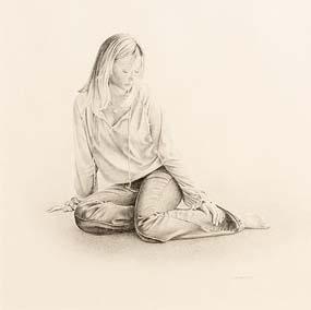 John Waterhouse, Study of Fiona at Morgan O'Driscoll Art Auctions
