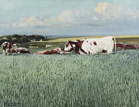 Cecil Maguire, Paysage, Normandy at Morgan O'Driscoll Art Auctions