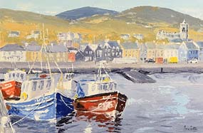 Ivan Sutton, Lobster Boats, Dingle, Co Kerry at Morgan O'Driscoll Art Auctions