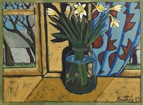 Graham Knuttel, Still Life on Window Sill at Morgan O'Driscoll Art Auctions