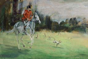 Con Campbell, Hunting Scene at Morgan O'Driscoll Art Auctions