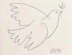 Pablo Picasso, Blue Dove of Peace (1961) at Morgan O'Driscoll Art Auctions