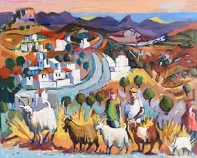 Michael O'Neill, Shepherding the Flock at Morgan O'Driscoll Art Auctions