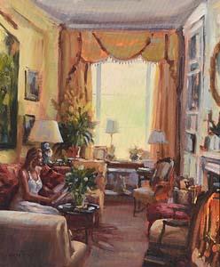 Norman Teeling, Drawing Room at Morgan O'Driscoll Art Auctions
