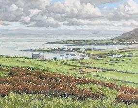 John Kirwan, Dooega Village (1997) at Morgan O'Driscoll Art Auctions