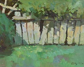 Paul Kelly, The Garden Fence at Morgan O'Driscoll Art Auctions
