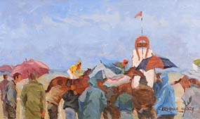 Desmond Hickey, Final Strides, Laytown Races at Morgan O'Driscoll Art Auctions