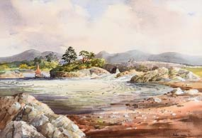 Susan Mary Webb, Salmon Bridge, Salt Lake Manor, Near Clifden (1984) at Morgan O'Driscoll Art Auctions