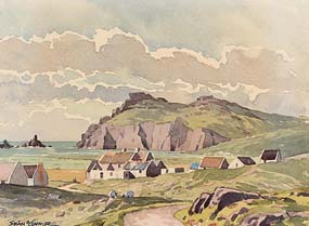 Sean O'Connor, Old Cottages, Caragh at Morgan O'Driscoll Art Auctions