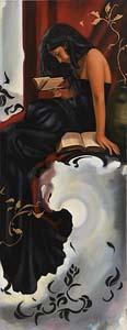 Joe Dawson, Girl Over Moonlight at Morgan O'Driscoll Art Auctions
