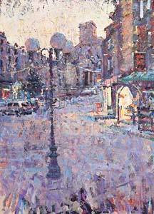 Arthur K. Maderson, Christmas Eve, Dusk, Le Vigan at Morgan O'Driscoll Art Auctions