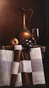 David French Le Roy (20th/21st Century), Still Life with Wine and Fruit at Morgan O'Driscoll Art Auctions