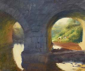 Thomas Ryan, Under the Bridge at Morgan O'Driscoll Art Auctions