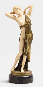 After Johann Philipp Preiss, Standing Female Figure at Morgan O'Driscoll Art Auctions