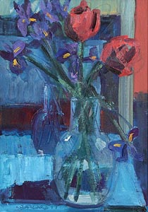 Brian Ballard, Tulips in a Vase at Morgan O'Driscoll Art Auctions