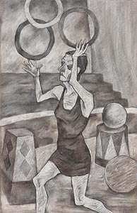 Eddie Mooney, Girl Juggling Hoops at Morgan O'Driscoll Art Auctions