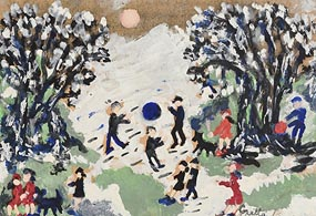 Gretta Bowen, Playing in the Snow at Morgan O'Driscoll Art Auctions
