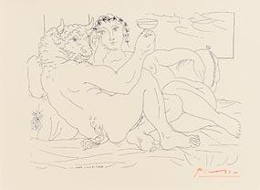 Pablo Picasso, Minotaure, une Coupea la Main, et Jeune Femme at Morgan O'Driscoll Art Auctions