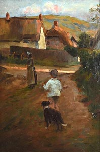 in the style of Walter Frederick Osborne, Boy With Sheepdog at Morgan O'Driscoll Art Auctions