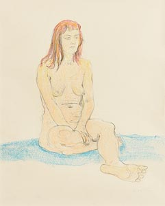 Gerard Dillon, Nude on a Blue Rug at Morgan O'Driscoll Art Auctions