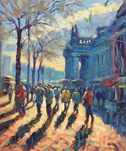 Norman Teeling, GPO, O'Connell Street Dublin at Morgan O'Driscoll Art Auctions
