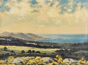 Mabel Young, Coastal Landscape at Morgan O'Driscoll Art Auctions