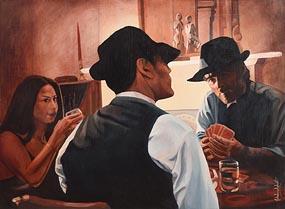 John Luce Lockett, The Card Game at Morgan O'Driscoll Art Auctions