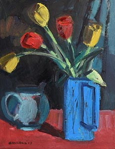 Brian Ballard, Five Tulips (2017) at Morgan O'Driscoll Art Auctions