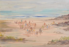 Gladys MacCabe, Horse Rides, Newcastle, Co Down at Morgan O'Driscoll Art Auctions