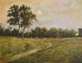 Ciaran Clear, Walking in the Moonlight at Morgan O'Driscoll Art Auctions