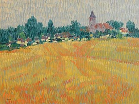 Desmond Carrick, Post Harvest Lands at Levignan, France at Morgan O'Driscoll Art Auctions
