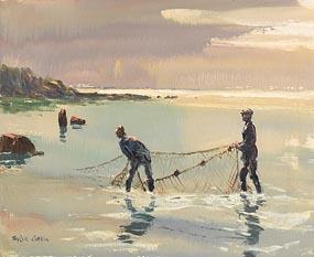 Robert Taylor Carson HRUA (1919-2008), Net Fishing at Morgan O'Driscoll Art Auctions