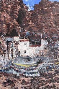 Hector McDonnell, Goragen Monastery, Tibet (2009) at Morgan O'Driscoll Art Auctions