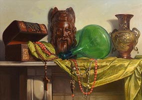 Oisin Roche, Oriental Still Life at Morgan O'Driscoll Art Auctions