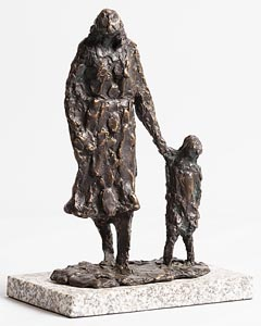 Melanie Le Brocquy, Child and Mother Walking (1998) at Morgan O'Driscoll Art Auctions