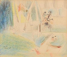 Louis Le Brocquy, Paris (1948) at Morgan O'Driscoll Art Auctions