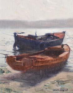 James English, Summer Haze, Lough Shinny at Morgan O'Driscoll Art Auctions