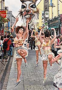 Gordon Harris, The Street Dancers at Morgan O'Driscoll Art Auctions