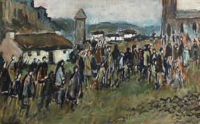 Gladys MacCabe, Church Goers, Kerry at Morgan O'Driscoll Art Auctions