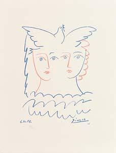 Pablo Picasso, Two Females & Dove (1983) at Morgan O'Driscoll Art Auctions