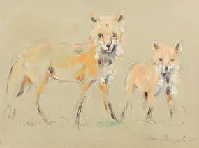 Con Campbell, Fox and Cub at Morgan O'Driscoll Art Auctions