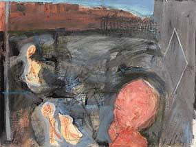 Brian Maguire, Mountjoy Square (1990) at Morgan O'Driscoll Art Auctions