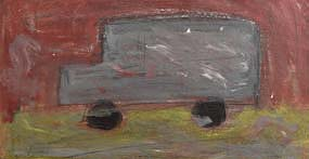 Basil Blackshaw, The Grey Van at Morgan O'Driscoll Art Auctions