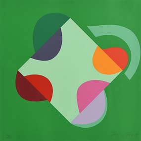 Sir Terry Frost, Development of a Square within a Square (Green) (2000) at Morgan O'Driscoll Art Auctions